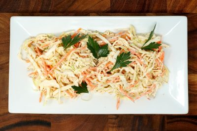 Coleslaw cabbage, apples, mayo, carrot, celery seed
